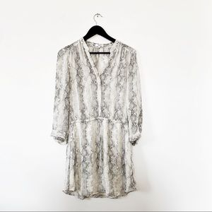 Aritzia Babaton Bennett Silk White Snake Dress